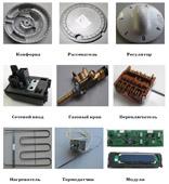 Запчасти электро и газовых плит